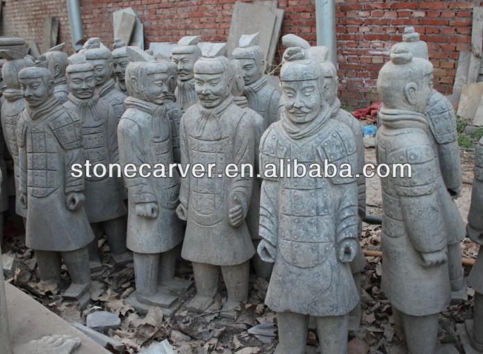 Pedra Terra Cotta Warriors <span class=keywords><strong>estátua</strong></span>