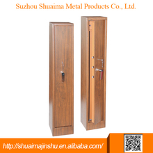 High-quality and security wood color portable gun safe box