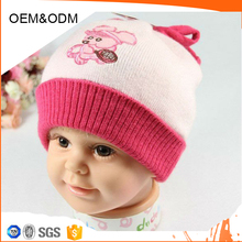Custom acrylic knit baby cap