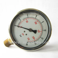"""100mm(4.0"""") oil filled stainless steel manometer ,lower mount"""