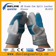 Cow Split With Green Double Palm Leather Glove /Hot Sale Cow Split Leather Gloves