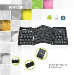 Folding wireless Keyboard compatible for laptops,for cellphone and tablet bluetooth keyboard