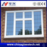 Novel design building standard upvc profile tempered glass steel window pictures