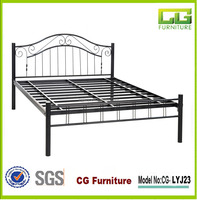 2015 hot sale Easy to assemble metal bed Wrought iron bed double metal bed frame