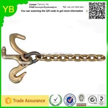 Custom brass flat double j hook bolts hang tabs