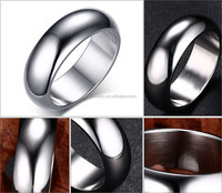 7MM Stainless Steel Silver Blank Ring for Inlay Jewelry