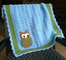 Cute handmade crochet baby blanket crochet owl blanket baby cuddle blanket