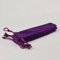 Promotional high quality velvet pen gift pouch bags /purple fabric pen packing bags