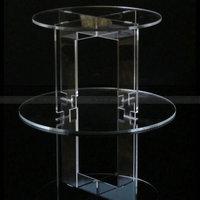 2 Tier Circle Acrylic Cupcake Stands Lucite Cupcake Display holder Plexiglass Cupcake Rack