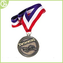 2015 best selling cheap custom metal swimming sport medals for wholesale.