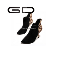 GD 2015 fashional sexy style women ladies thin high heel shoes with leopard printed