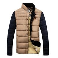 Khaki new design customized outdoor man down jacket clothing 150102014