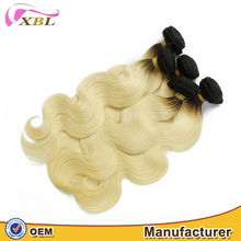 XBL thick ends two tone ombre hair color 1b and blonde Indian remy hair