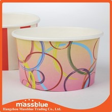 High Quality Disposable Printed Paper Frozen Yogurt Bowl,Disposable Paper Ice Cream Frozen Yogurt Cups Supplier