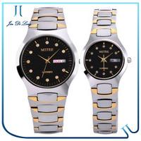Newest good quality Tungsten steel watch with diamonds Goldsmith Sapphire quartz watch