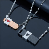 Yiwu Aceon Stainless Steel Charm 2015 Fashion Europe and America Jewelry Couples Pendant Necklace Valentine's Pendant