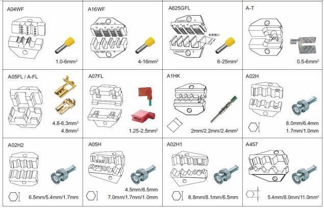 Em 6b3 sertissage et de coupe et machine d caper pour