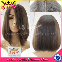 wholesale price best bolin hair quality short hair lace wig silk top