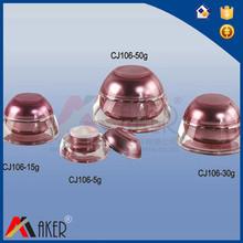 water cap shape liquid or cream Arcylic Bottle with Lotion Vacuum pump nozzle