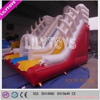 Inflatable durable crazy and exciting snow theme inflatable slide for commercial used