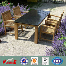 Fashion teak dining table indoor with marble table top MY13TW22