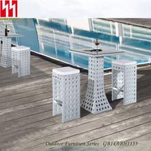 Mesa de Patio y sillas conjunto moderno diseño de ratán taburetes de la barra