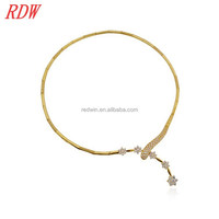 RDW Necklace America And European Fashion Brand Gold Necklace Styles Designs For Women Unique Gold Neck Jewelry