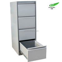 Easy Assemble Light grey steel double clour 4 Drawer Vertical office storage hanging file cabinet