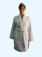 new design 340gsm flannel fleece bathrobe for women