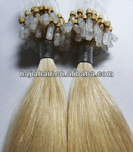 Micro Ring Hair Remy Cuticle hair quality blonde 20inch italian keratin glue