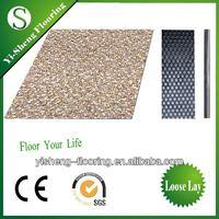 Factory hot sale loose lay waterproof carpet designs vinyl floor tiles