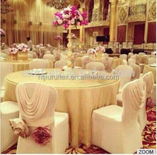 New Design Luxury Spandex Chair Cover With Valance/ Drape At Back For Wedding Use