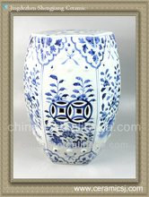 RYNQ48 Oriental blue and white porcelain garden stool