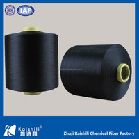 Export Worldwide Countries 4075/3075/2075 36F core spun polyester spandex yarn black