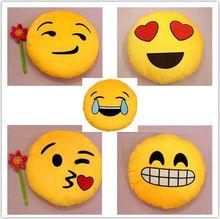 Emoji Icon Kissing Kiss Love Heart Yellow Round Cushion plush emoji pillows