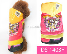 Sweet 2015 hot selling xxxs dog clothes/dog coat
