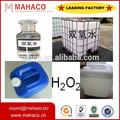 Grado industrial de peróxido de hidrógeno 35%, 50%, 60% con el mejor precio
