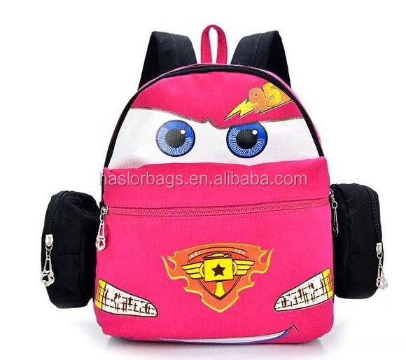 Enfants Mini toile sac à dos avec la conception de la voiture