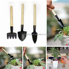 Home Shovel Rake Garden Supplies Accessorie Mini Set Horticulture Gardening Small Tools Flower Potted Plant Iron Wooden 3pcs/set