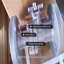 High platform silica sol casting ball valve CF8M 316 WENZHOU BESTOP