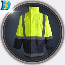 High Visibility Motorcycle Riding Classic Yellow Raincoat