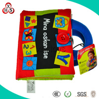 Funny Wholesale Soft Customed educational cloth book