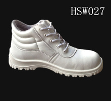 slip resistant Europe standard middle cut white safety shoes for food factory/industrial