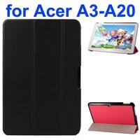 Karst Texture 3-Folding Style PU Leather Case for Acer Iconia A3-A20