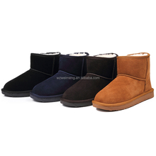 OEM suede elegant women sheepskin ankle boot