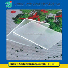 Jinyao 3.2mm Solar panel glass Mistlite extra clear low iron tempered glass