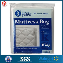 Disposable vinyl mattress cover,plastic protective cover mattress bag-King size