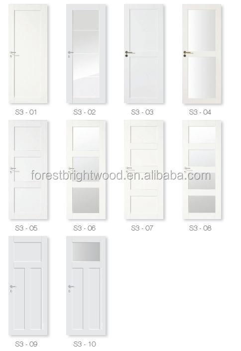 Witte kleur shaker soort decoratieve binnendeuren met kunst glas deuren product id 60128430638 - Decoratieve spiegel plakken ...