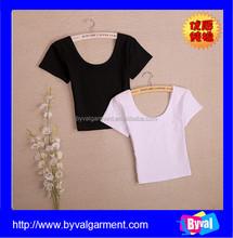 OEM Womens High Quality Cotton Crop Top Custom Plain Tight Crop Top