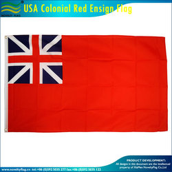 USA Colonial red ensign Flag - 3 x 5 ft 90 x 150 cm